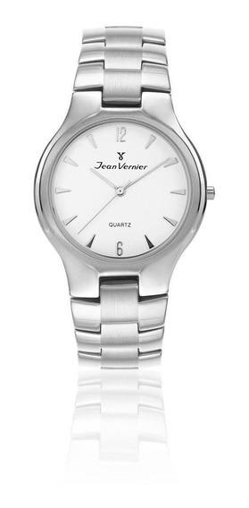 Relógio Pulso Jean Vernier Com Cristal Unissex Jv06169