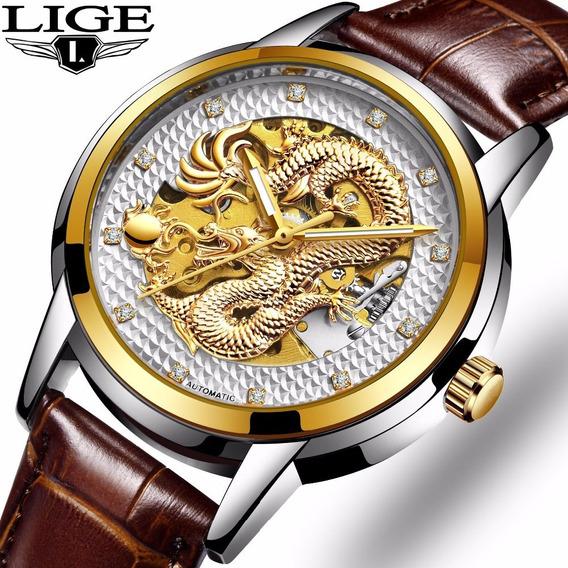 Relógio De Pulso De Aço Inoxidável Strap Ouro Branco 3d Top