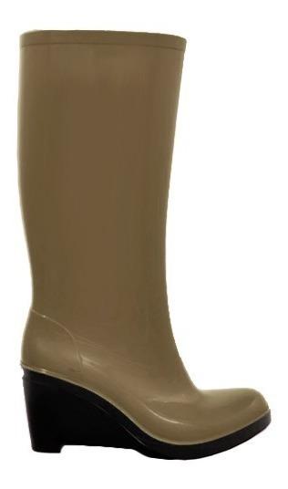 Bota Lluvia Stile 705 Mujer Taco Caña Alta Colores 35-40