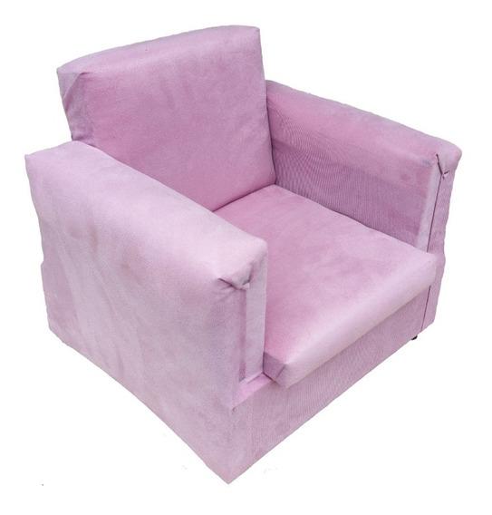 Sofa Infantil De Criança Poltrona Menino E Menina Em Suede