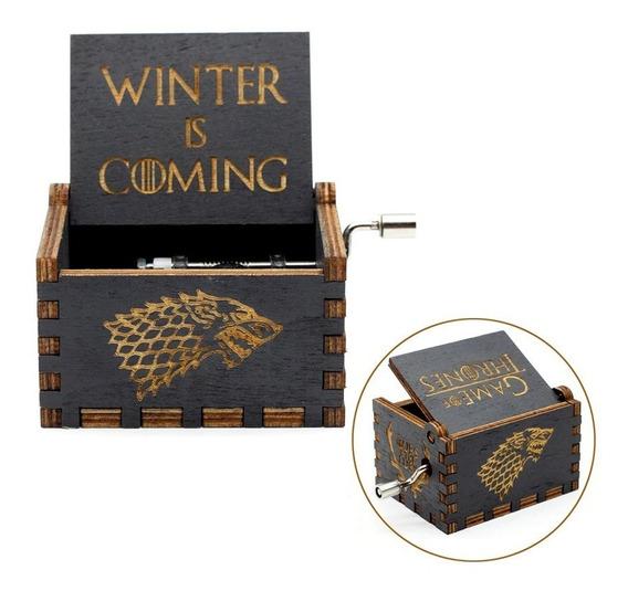 Caixa Caixinha De Musica Game Of Thrones Manivela - Linda