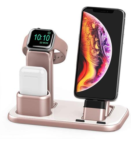 Soporte De Carga 3 En 1 Para Iwatch Iphones AirPods