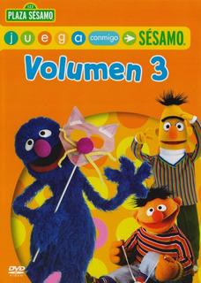Plaza Sesamo Juega Conmigo Volumen 3 Tres Dvd
