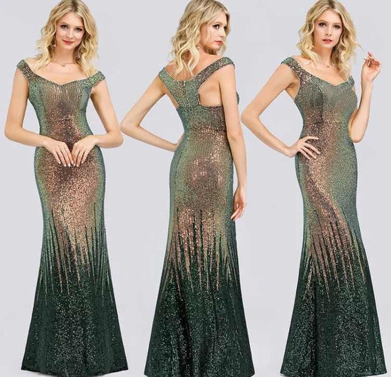 Espectacular Vestido Largo Único Increíble Importado