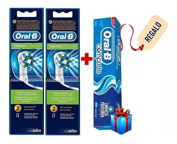 4 Repuestos De Cepillo Electrico Dientes Oral-b Cross Action