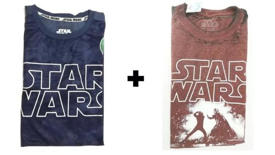 Combo Com 2 Camisa Masculina Star Wars Tamanho G