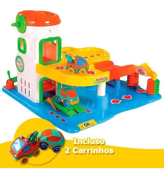 Car Center Posto Gasolina Brinquedo Educativos Calesita 0470