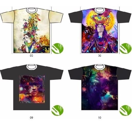 +70 Estampas Iradas 3d Sublimação Total T-shirt