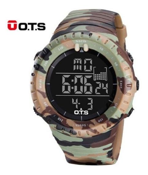 Relógio Digital Militar Ots Esportivo Masculino Camuflado