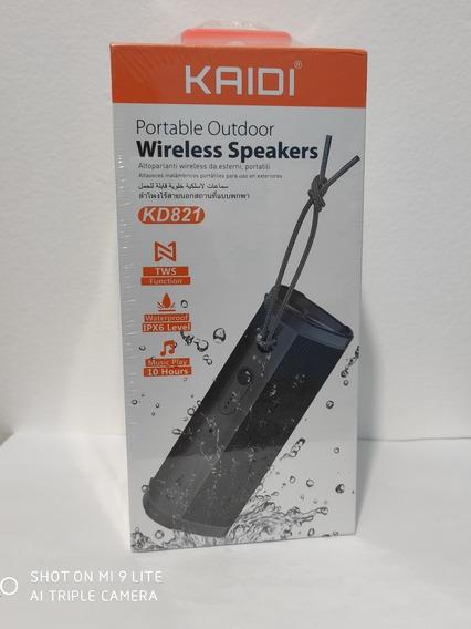 Caixa De Som Portátil Bluetooth Kaidi Prova D