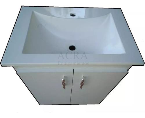 Mueble Armado + Mesada / Bacha / Pileta Recta Grande 60 Cm