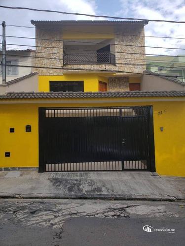 Imagem 1 de 30 de Sobrado Com 4 Dormitórios À Venda, 240 M² Por R$ 1.050.000 - Vila Bartira - Santo André/sp - So0262