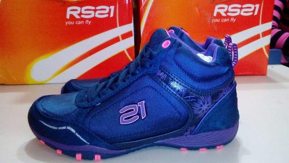 Zapatos Deportivos Botin Rs21 Niñas Talla 31 Ref 220