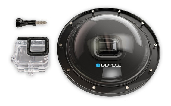 Dome Gopole H6/h5 Over/under Dome Port Gopro Hero 5 6 Black