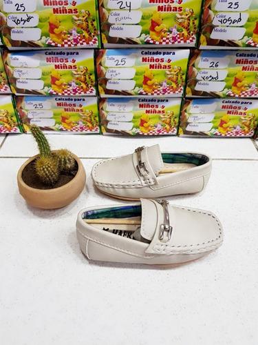 Zapatos Niño Mocasín Apache Beis Para Niño Todas Las Tallas