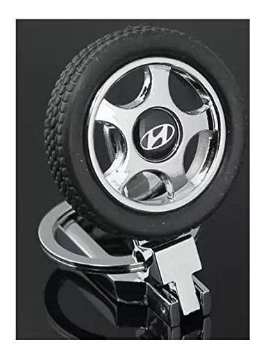 Chaveiro Hyundai Pneu Borracha Cromado - Perfeito !! Top !!!