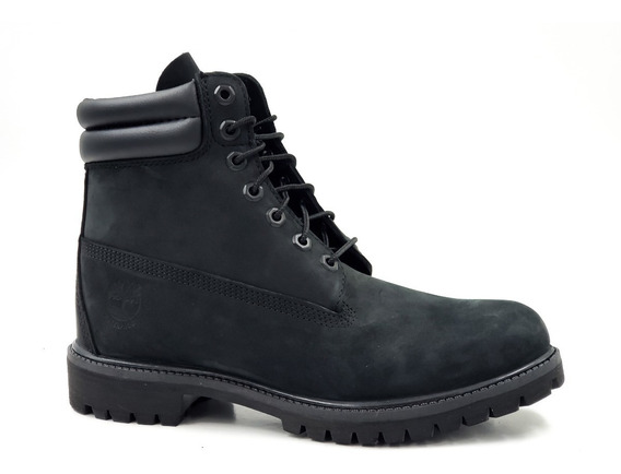 Timberland Premium 6in Waterproof Black Nubuk Neg. Hombre Ms