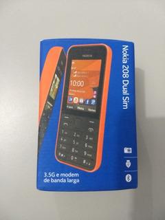 Nokia 208 Dual Chip Usado/ Necessita Troca De Bateria