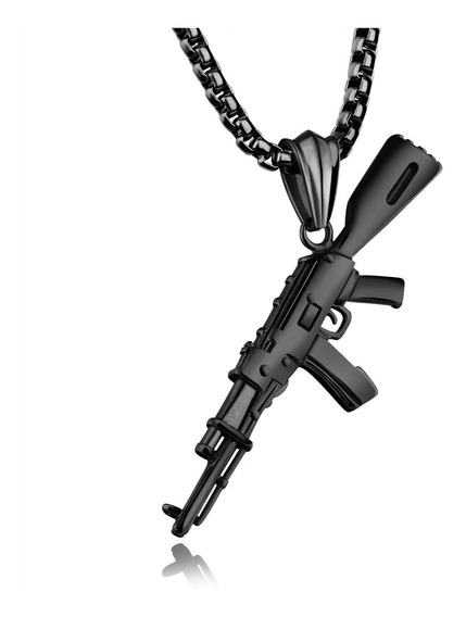 Collar Acero Inoxidable Djac904 Ak-47 Creativo Army Rifle