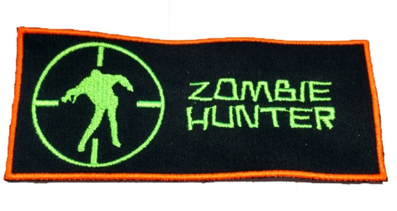 Parche Bordado Zombie Hunter Invasion Para Coser 16x7 Cm