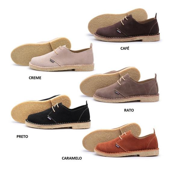 Sapato London Style Estilo Napolitano Sola Crepe E Camurça