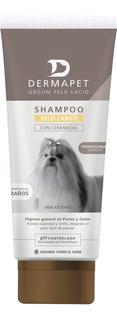 Shampoo Para Mascotas, Dermapet, Pelo Largo Pomo 250ml