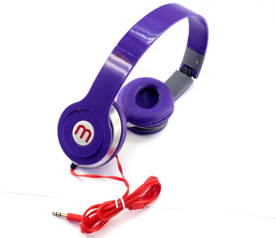 Fone Ouvido Headphone Stereo Mex Altomex Roxo Celular Radio Notebook Desktop Peça De Mostruário A11269