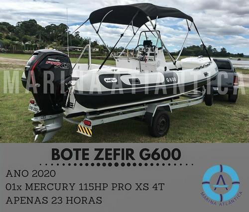 Bote Zefir G600, Ano 2020. 01xmercury 115hp Marina Atlântica