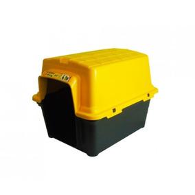 Casinha Para Cachorro Plastica 2 Em 1 N 4 Amarelo