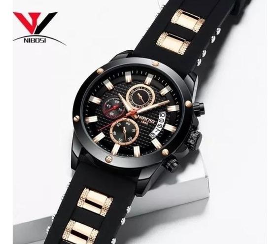 Relógio De Pulso Masculino Adulto Nibosi 2333 Oferta