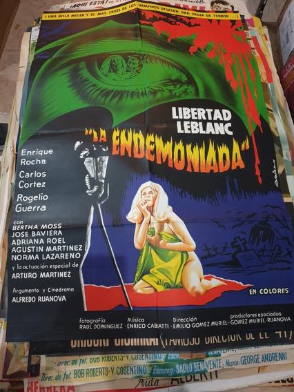 Antiguo Afiche De Cine Argentino Orig.- La Endemoniada- 314