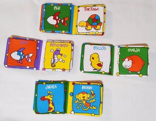 4 Libros Hule Para El Agua Mordillo Plástico Sonajero Bebé