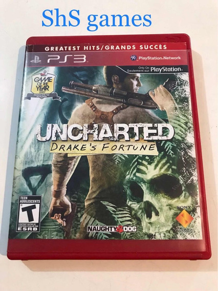 Uncharted Drakes Fortune Ps3 Mídia Física