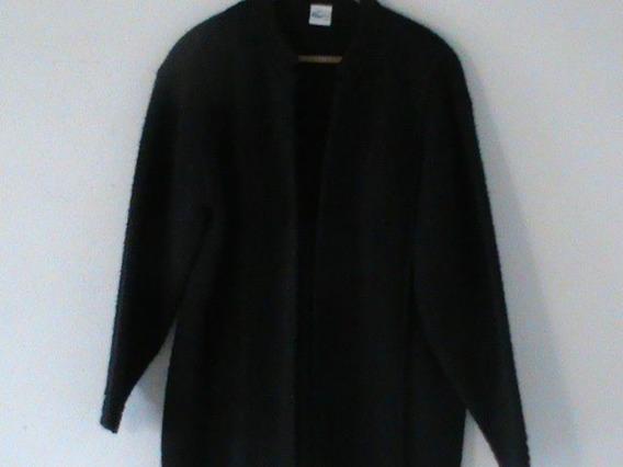 Abrigo Negro Talla 34-36 Para Dama De Estambre