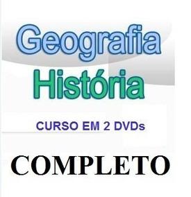 Aulas De Geografia + História Curso Em 2 Dvds Dc4