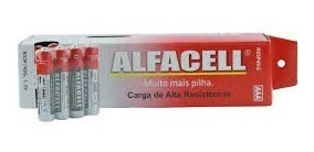 Pilha Aaa Palito Atacado Alfacell Original Caixa 60 Unidades