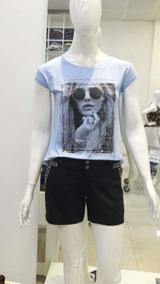 Blusa Feminina T Shirts Moça Gg Bordada Roupas Femininas