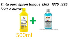 500ml Tinta Picmentada Uv Amarelo + 100ml Clean Limpeza