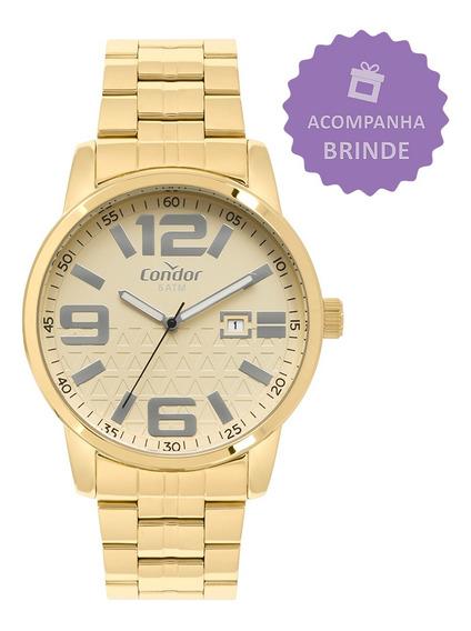 Relógio Condor Kit Dourado Masculino Co2115kuo/k4d