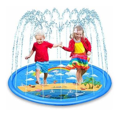 Rociador Aozzo Para Niños, Tapete De Agua Arcoiris De 68  ,