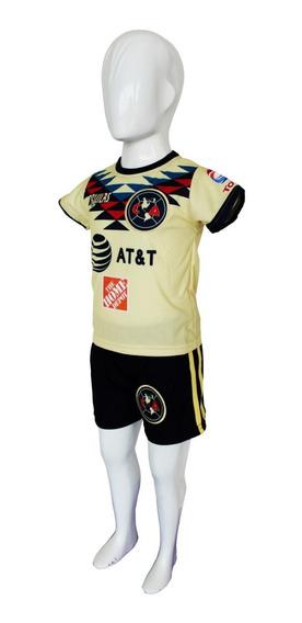 Playera America Conjunto Niño Jersey Short