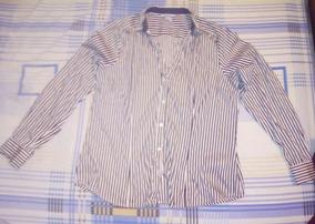 8aabf01fa Camisa Manga Larga Rayas Blanco-negro H m Talla 12 -ver Desc