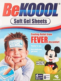 Adesivo Be Koool Gel Para Febre Original Importado Bekoool