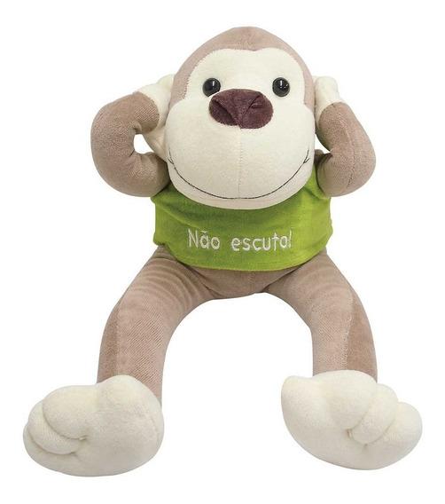 Macaco De Pelúcia Não Escuto