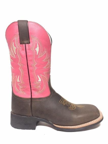 Bota Brazil Country 3628 X3 Crazy Horse Café/np Pink