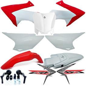 Kit Plástico Carenagem Crf230 Avtec C/ Adesivos Number Plate