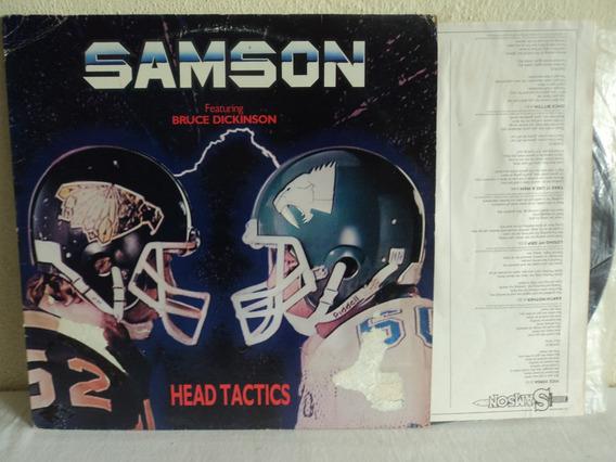 Lp-vinil:samson:head Tactics+encarte:bruce Dickinson:rock