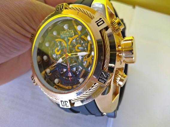Relógio Masculino De Borracha Grande Pesado Com Caixa