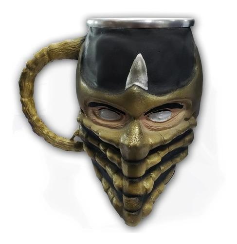 Imagem 1 de 5 de Caneca Resina Inox 3d Scorpion Mortal Kombat