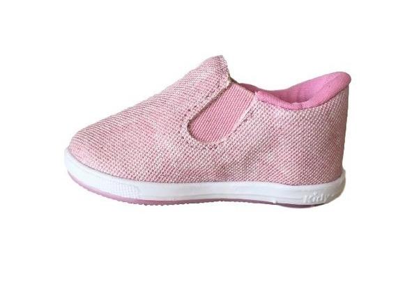 Tenis Menina Infantil Kidy Colors 4161 Respi-tec Nude/rosa